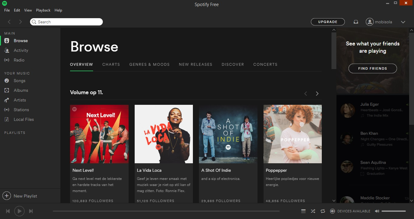 spotify on desktop