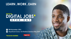Edubridge Consultants is holding a Digital Jobs open day in Lagos this Thursday