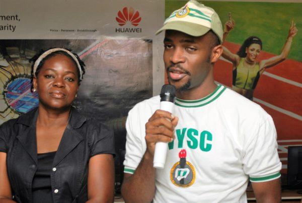 Ebube Oti delivering his speech