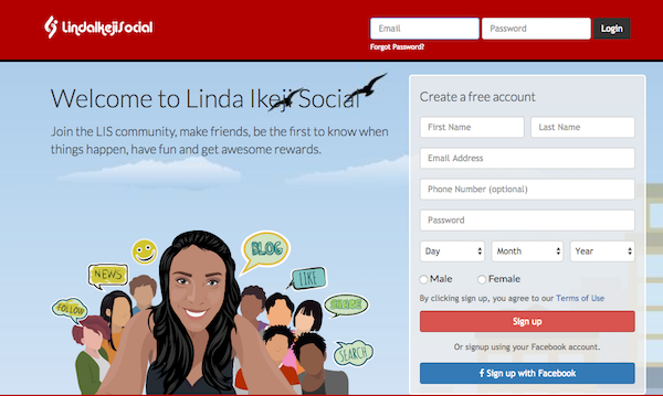 Linda Ikeji just launched a social network