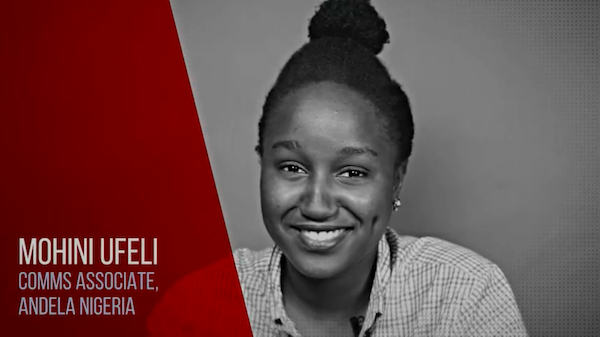 Watch Mohini Ufeli talk about her work running communications for Andela Nigeria