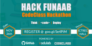 Codulab is hosting a CodeClass hackathon in abeokuta this november