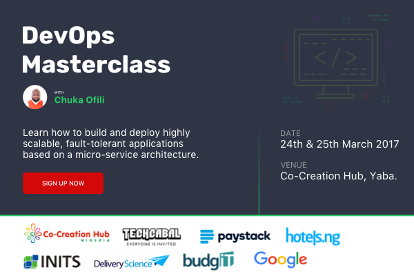 Join Chuka Ofili at the ultimate DevOps masterclass happening on March 24
