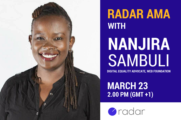 This week's AMA is with the Web Foundation's Nanjira Sambuli