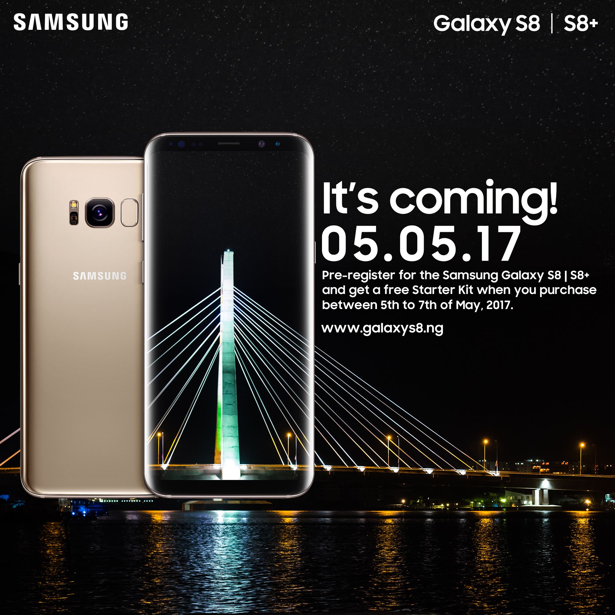 The Samsung Galaxy S8 and S8+ are now available for pre-registration in Nigeria