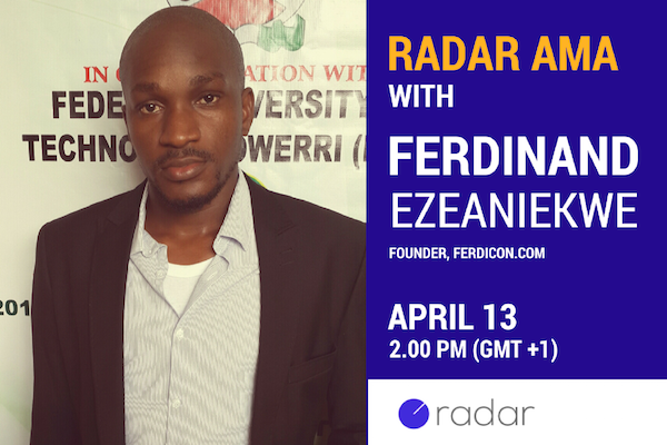 Join Ferdicon founder, Ferdinand Ezeaniekwe, for an exclusive AMA on e-commerce this Thursday at 2pm