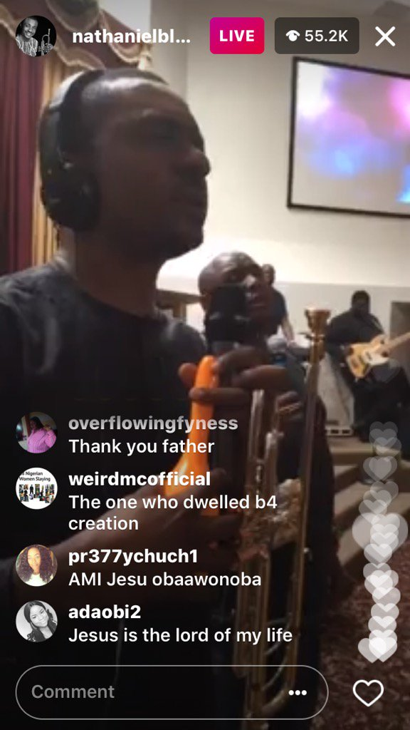 60,000 Nigerians Participate in an Instagram Live Praise and Worship Session