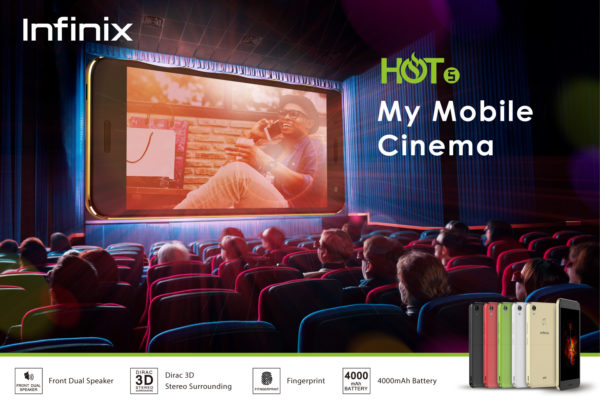 Nigeria's first mobile cinema smartphone unveiled: Infinix Hot 5 & HOT 5 Lite in Nigeria