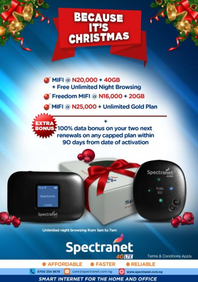 Spectranet Launches Xmas Promo