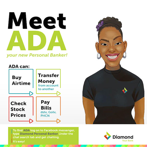Diamond Bank launches Artificial Intelligence-powered Chatbot for millions of Nigerian customers